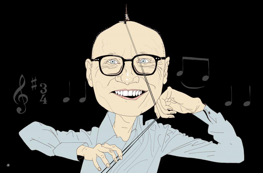 Caricature of Anders Beyer